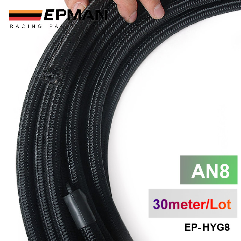 2013 very high quality AN8 Cotton Over Braided Fuel Oil Hose Pipe Tubing Light Weight 30