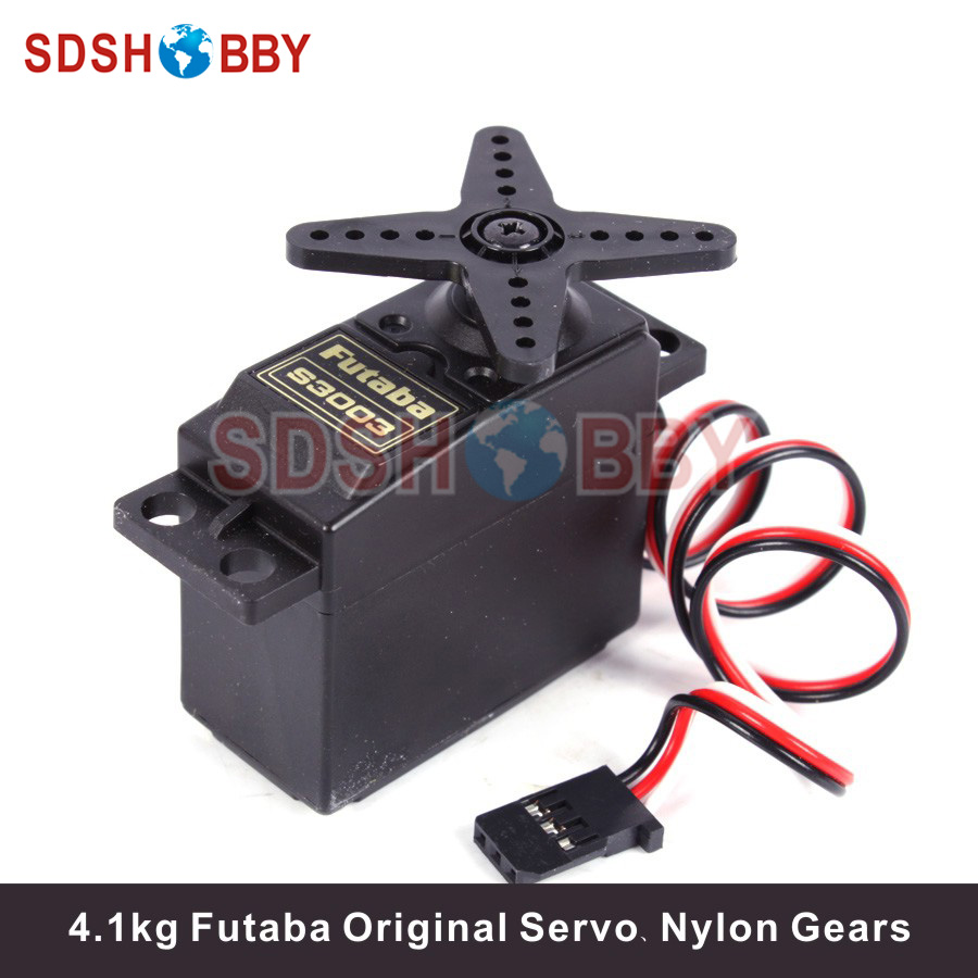 Original Futaba S3003 Standard Servo 4.1kg/37g W/Nylon Gears For RC Cars And Boats