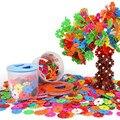 300 unids favorito de los niños educativos de diy bloques de construcción de montaje de bloques de construcción de ladrillos de juguetes de aprendizaje creativo del copo de nieve