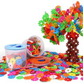 300PCS Kids Favorite Educational DIY Assembling Snowflake Blocks Toys Creative Learning Construction Bricks Building Blocks