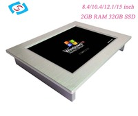 open frame lcd display monitor Fanless 12.1 inch fanless mini touch Industrial Panel PC