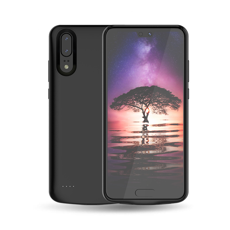 Compatible with Huawei P20 Lite Battery Case 4700mAh Extended Battery Rechargeable Backup Fast Charging Case Black Impact Resistant Power Bank Full Protection for Huawei P20 Lite