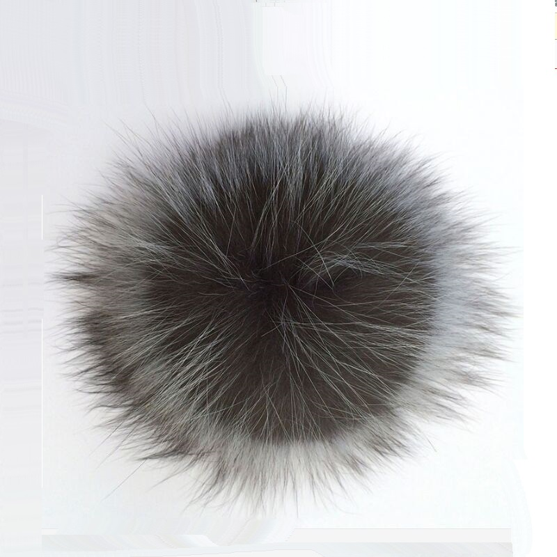 PPM002 Genuine Real Silver Fox Fur Pompom Fur Pom Poms Ball for Hats Natural Fur Pompon Ball For Shoes Caps Bags Accessory alphbet pompom fashion for car 12cm fluffy real fox fur pompon key ring keychain for bag accessory