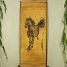 China Antique collection Boutique Calligraphy and painting Horse diagram