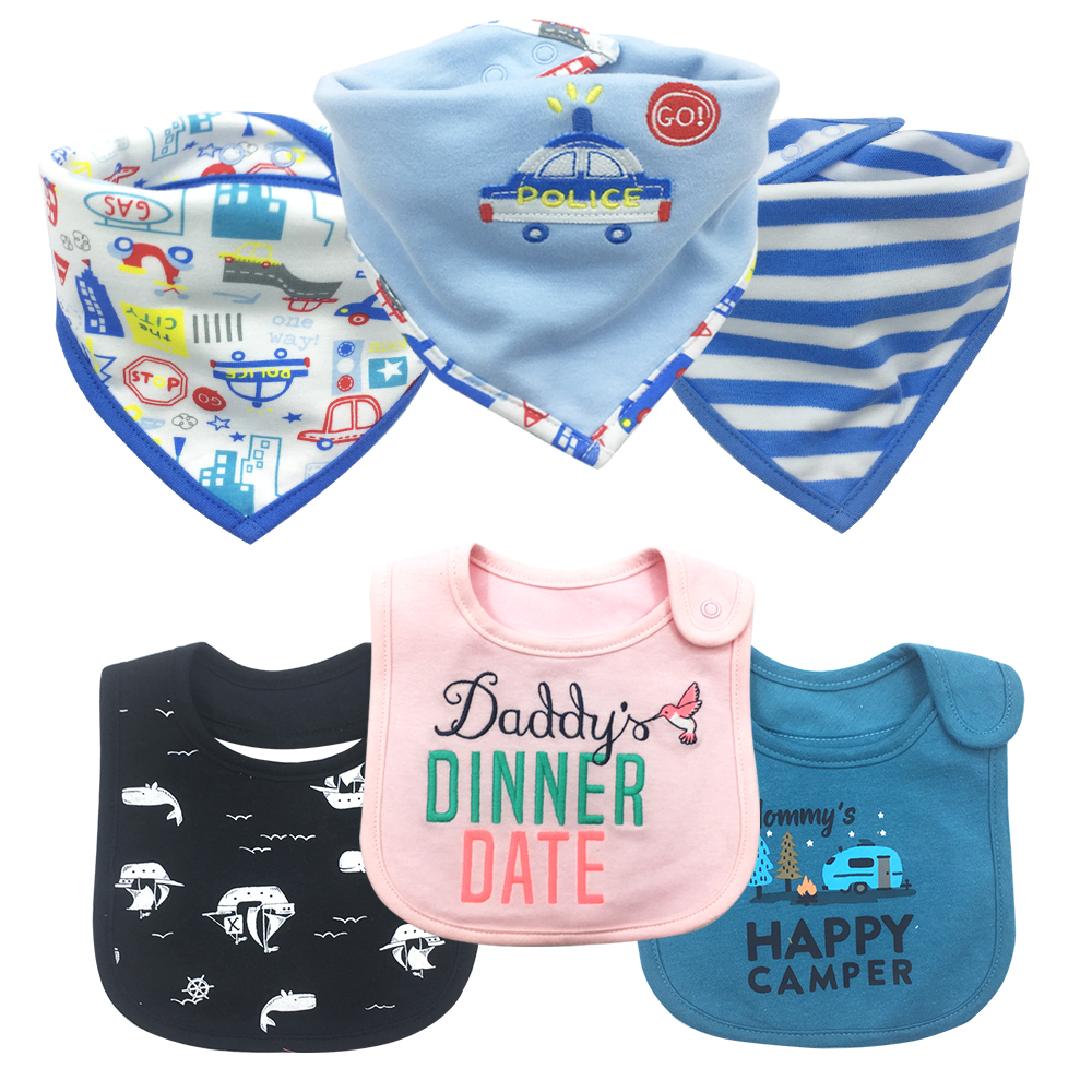 Babadores do bebê meninas meninos babadores & panos de arroto roupa do bebê produto toalha bandanas atacado 100% algodão à prova dbandágua bandana