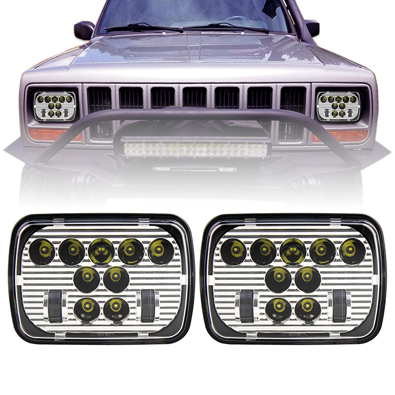 7x 6 5 x 7 inch Chrome Projector LED Headlights For Jeep Wrangler YJ Cherokee XJ H6054 H5054 H6054LL 69822 6052 6053 marlaa 7x 6 5 x 7 inch black projector led headlights for jeep wrangler yj cherokee xj h6054 h5054 h6054ll 69822 6052 6053