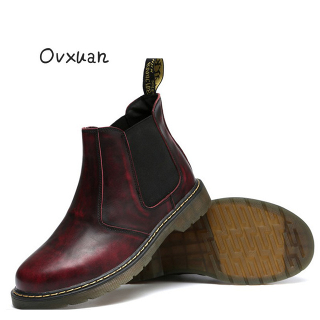 15321c7bc61 Men's Chelsea Boots Genuine Leather Handmade Luxury Brand Men Boots Outdoor  Party Dress Oxfords Shoes Big Size Motorcycle boots-in Oxfords from Shoes  ...