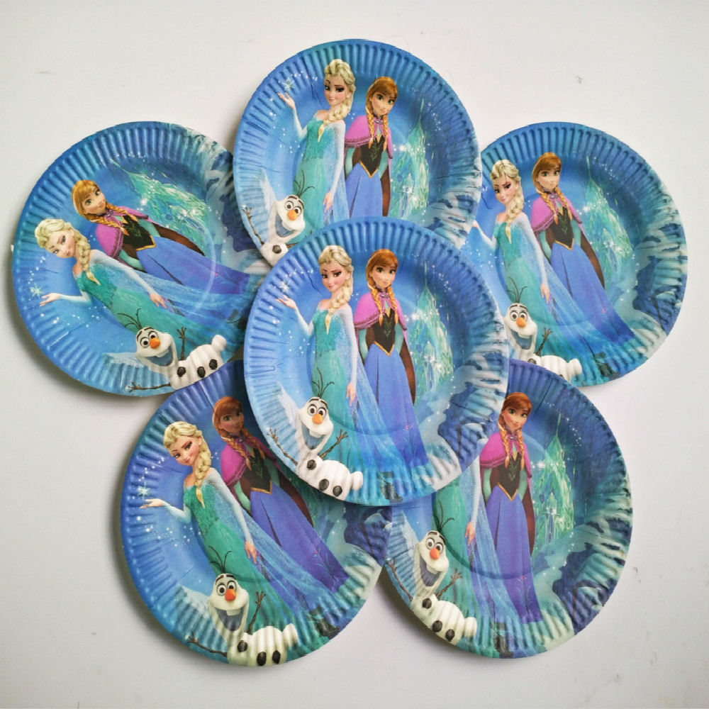 20 people Frozen elsa anna happy Birthday Party Decorations Kids baby shower Supplies Tableware Set Paper banner Plates Favor-in Disposable Party Tableware ... & 20 people Frozen elsa anna happy Birthday Party Decorations Kids ...