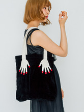 2016 autumn and winter new fun finger pearl Plush internal spacing between mobile phone bag single shoulder bag free shipping