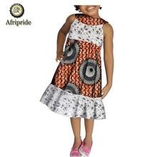 2019 African kids spring dress Children clothing pure cotton ankara print dashiki bazin riche AFRIPRIDE  S1845001