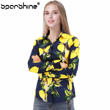 SPARSHINE Shirts Women Blouses Fruit Printed Blusa Ladies Tops Camisa Feminina Cotton Tops For Girls Blusas 2017 5xl Plus Size