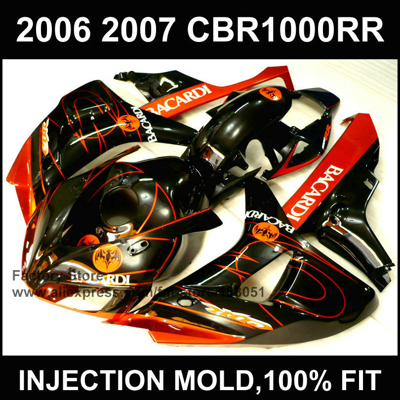 Custom ABS motorcycle Injection Fairings kits for HONDA 06 07 CBR1000RR 2006 2007 CBR 1000RR fireblade body repair fairing kits new hot moto parts fairing kit for honda cbr1000rr 06 07 green injection mold fairings set cbr1000rr 2006 2007 ra17