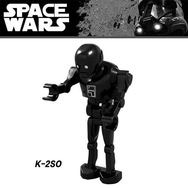 50 Stks/partij K-2so S Cijfers Groothandel Rogue Een Robot Modellen Bouwstenen Cijfers Speelgoed Voor Kinderen