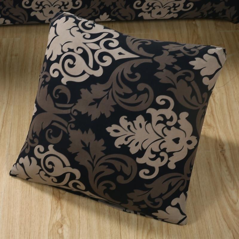 Floral Printing Stretch Elastic Cushion Cojines Decorativos Para Sofa Capa De Almofada Coussin De Salon Housse De Cous