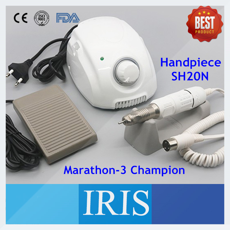 Hot Selling Marathon Champion 3 SH20N Light Weight Nail Drill Polisher High Speed Saeyang Polishing Micromotor for Manicure 1pc white or green polishing paste wax polishing compounds for high lustre finishing on steels hard metals durale quality