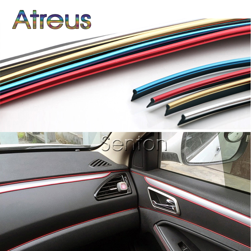 Atreus Car Interior Decoration Moulding 5M For Peugeot 301 307 206 308 407 207 2008 3008 508 406 208 For Citroen C4 C5 C3 C2