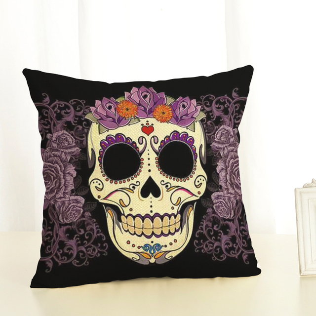 Skull Cushion Cover 45x45cm