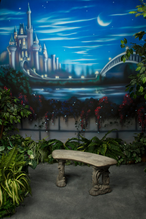 Brilliant Us 24 22 5 Off Princess Castle Garden Bench Cinderella Bridge Crescent Moon Backdrop Vinyl Cloth Computer Print Party Background In Background From Gmtry Best Dining Table And Chair Ideas Images Gmtryco