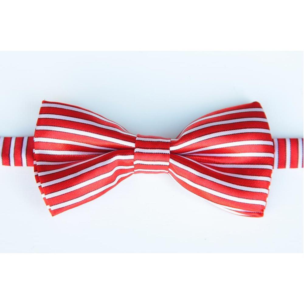 Пунктирной галстуки-бабочки для мальчиков узор Галстуки белый галстук с принтом бабочкой детские подарочные Много конструкций в полоску - Цвет: BoyHS