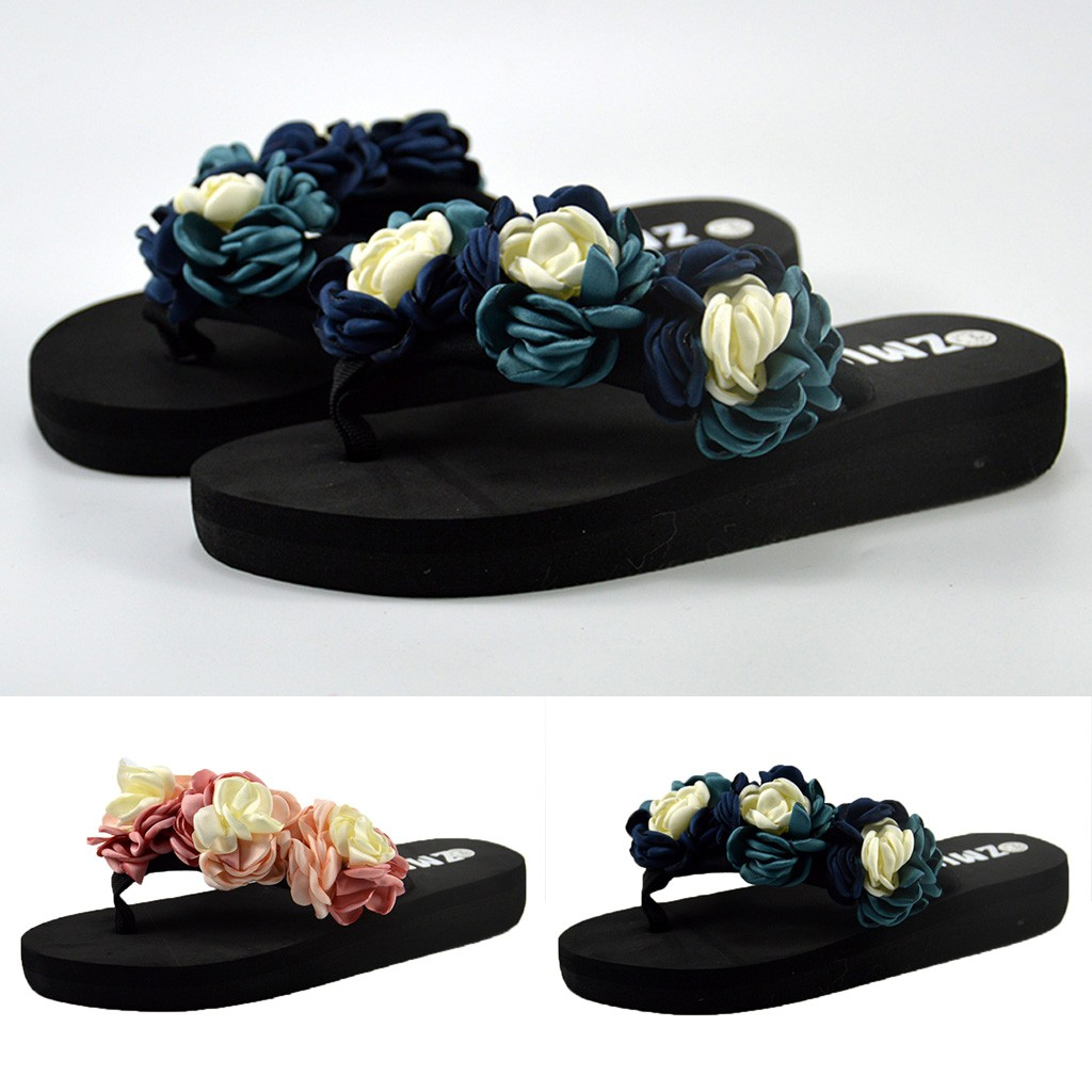 Women Muffin Flat Bottom Slippers Sandals Home Bathroom Beach Flip Flops Shoes Summer Bohemian flip flops womens wedges slipperWomen Muffin Flat Bottom Slippers Sandals Home Bathroom Beach Flip Flops Shoes Summer Bohemian flip flops womens wedges slipper