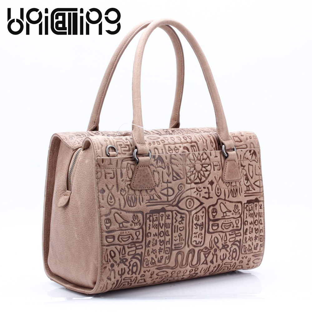 UniCalling Genuine Leather women bag quality brand female handbag Fashion vintage leather
