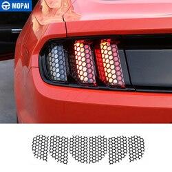 Samochód MOPAI zewnętrzna tylna lampa o strukturze plastra miodu dekoracyjne pokrycie naklejki dla Ford Mustang 2015 Up akcesoria samochodowe stylizacja