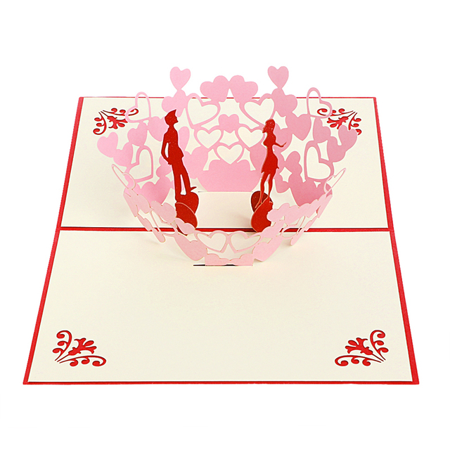 Romantic wedding party event invitation card kit happy couple 3d romantic wedding party event invitation card kit happy couple 3d greeting card pop up paper cut stopboris Images