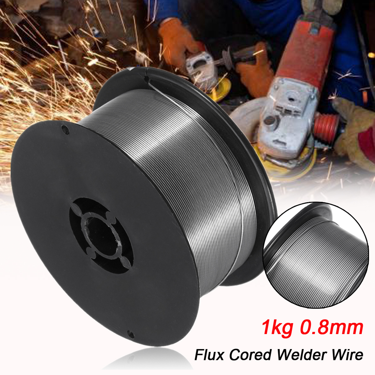 1 Roll 1kg 0.8mm Gasless Mig Welding Wire Flux Cored Wire Stainless For Mig Welder Tool New Arrival
