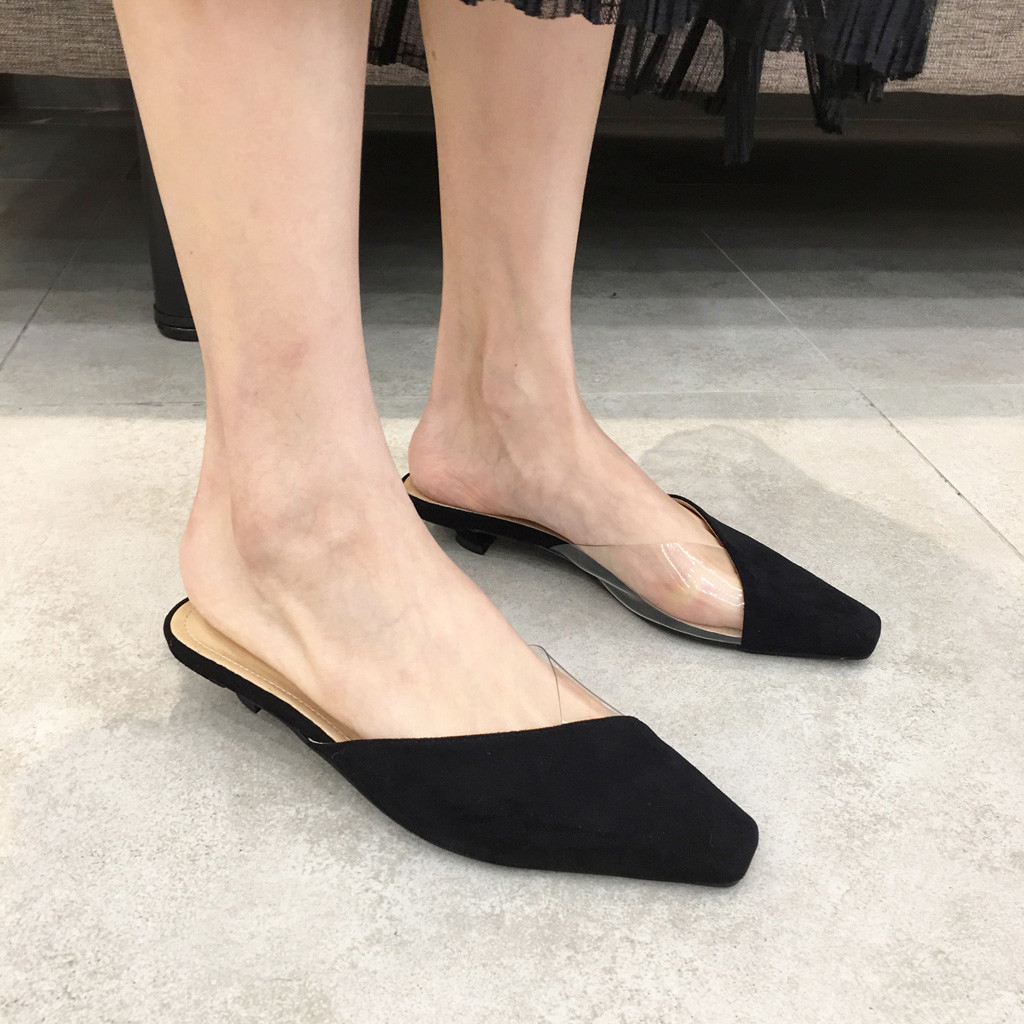 flats women 2019 Slippers Women Wear Leopard-print Baotou Half-point Flat Shoes Without Heel Lazy flats mujer dropshipping