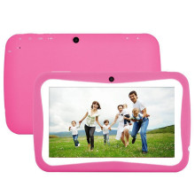 Kid Tablet PC 7″ Babypad 800*480 IPS A33 Quad Core Android 5.1 Tablet PC 512MB+16GB Silicone Case for children Candy Color