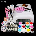 Professional Full Set UV Gel Kit Nail Art Set + 36W Nail White UV Lamp Kit Dryer Curining Manicure Tools Free Shipping