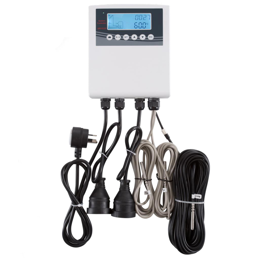 Solar Water Heater Controller SR1535 IP 43 Suitable for separated pressurized solar system
