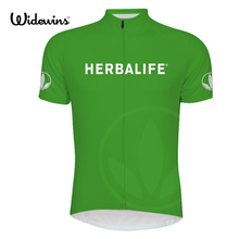 2017 new Cycling Jersey Herbalife green best quality cycling clothes Top sport shirt 6511