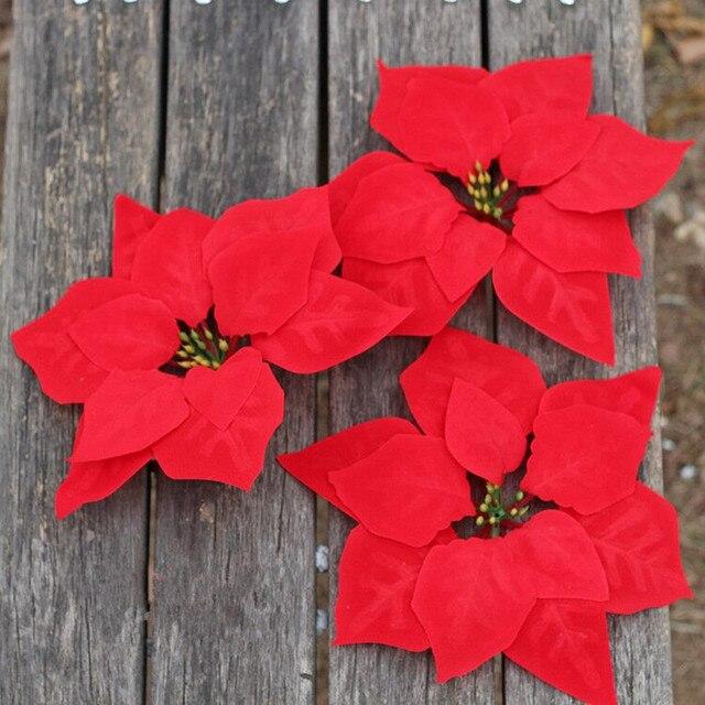 Aliexpress.com : Buy 50 Pieces 20CM Artificial Red Christmas ...