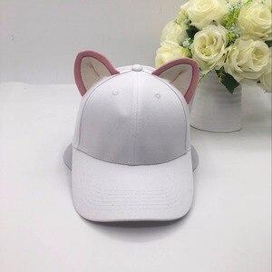 Image 5 - Casquette de baseball pour femmes et filles en pur coton, chapeau équestre, chapeau pour femme, nouvelle collection doreilles de chats