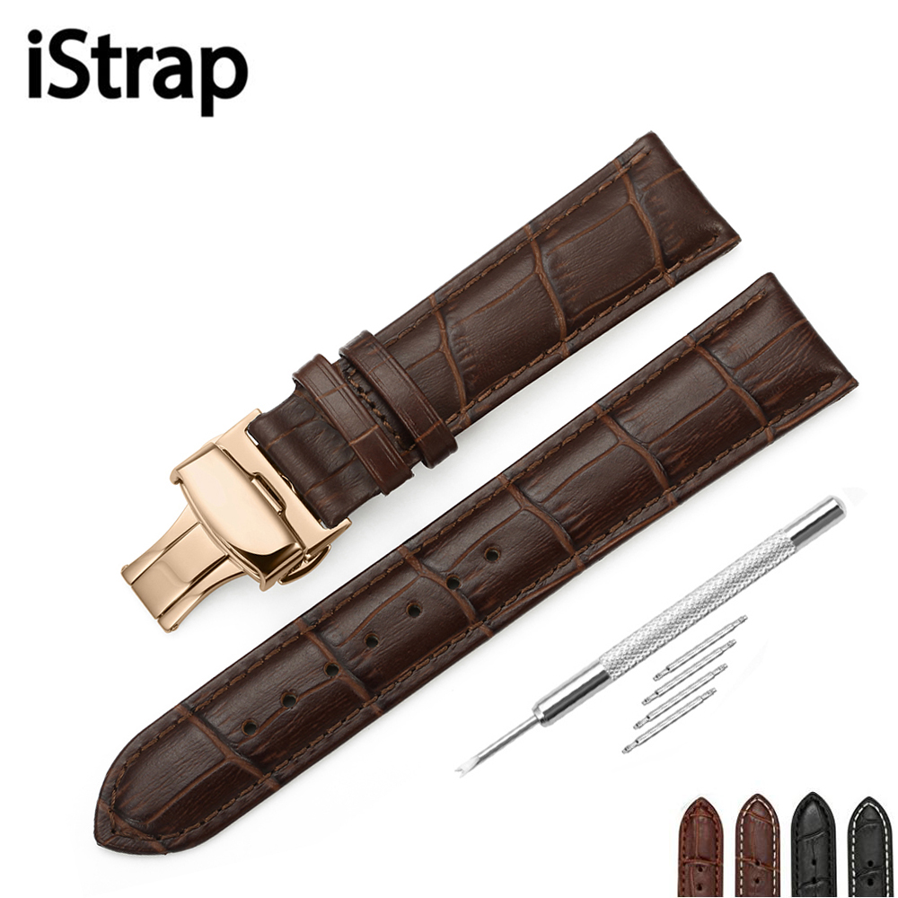 iStrap 12mm 13mm 14mm 16mm 18mm 19mm 20mm 21mm 22mm 24mm Genuine Calf Leather Watchband belt for Hours Diesel watch Seiko istrap 22mm handmade genuine calf leather padded replacement watch band for men black 22