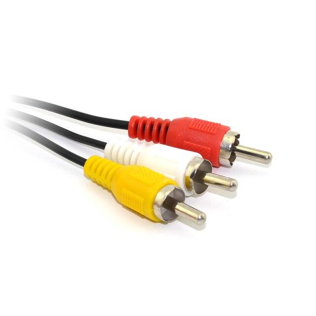 100 pièces haute qualité 3 RCA Audio TV vidéo cordon AV câble pour Nintendo pour N64 pour GameCube GC pour SNES