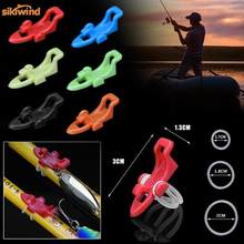 6 Colors Fishing Hook Keeper Fishing Rod Lure Bait Safety Holder Plastic Hanger Fish Tackle Gadgets Accessories Tool Pesca(China)