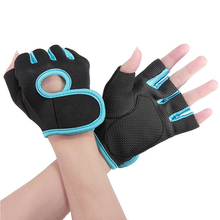 Men Women Fitness Exercise Workout Weight Lifting Sport Gloves Gym Bodybuilding Training Half Finger Size M