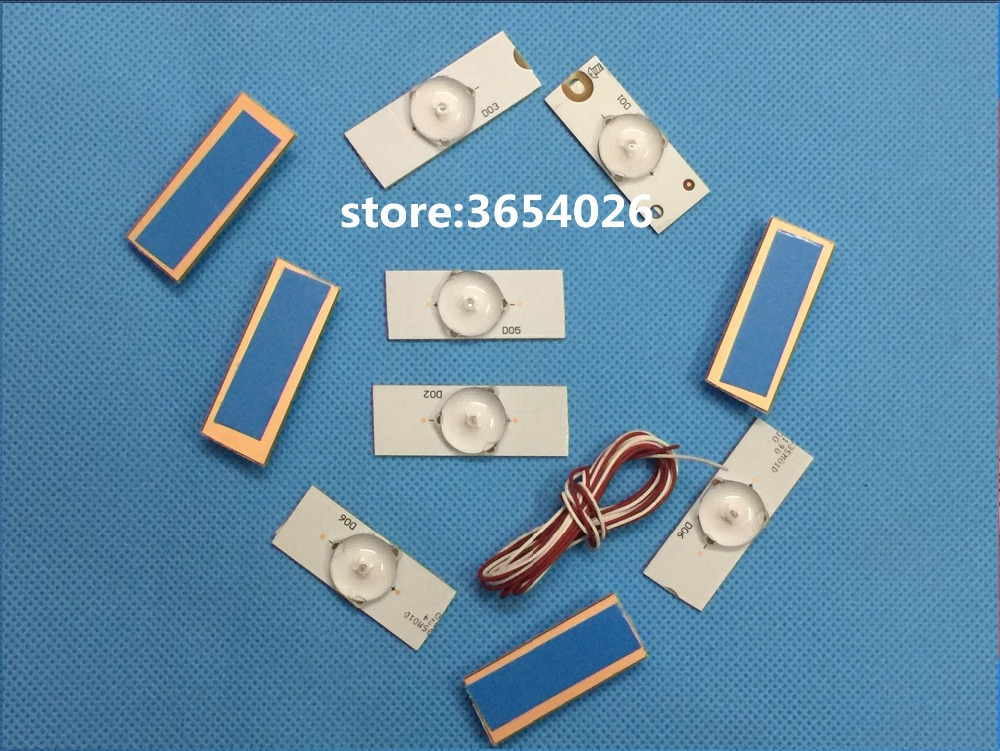 20Pieces/lot    Led Strips 3v Bulbs Diodes 32-65 Inch Tv Optical Lens Fliter Backlight W/ Cable Double-side Tape