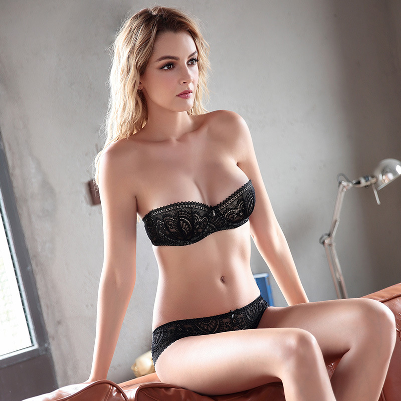 Sexy half cup bra