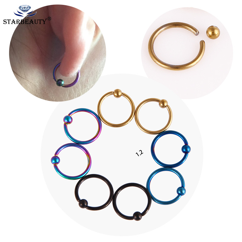12Pcs//Set Hoop Nose Ear Rings Tragus Cartilage Earrings Piercing Body JewelrY/_ne