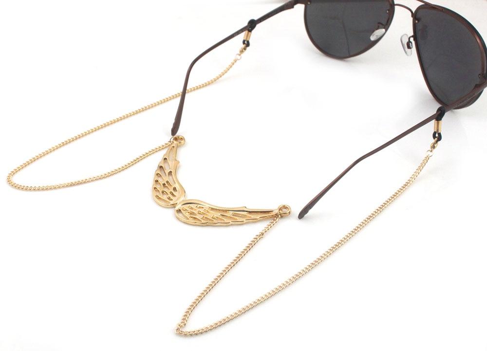 cd1eae9f4de91d GL124 1 PCS Lot Livraison Gratuite belle argent aile d ange chaînes de  lunettes titulaire de la chaîne collier