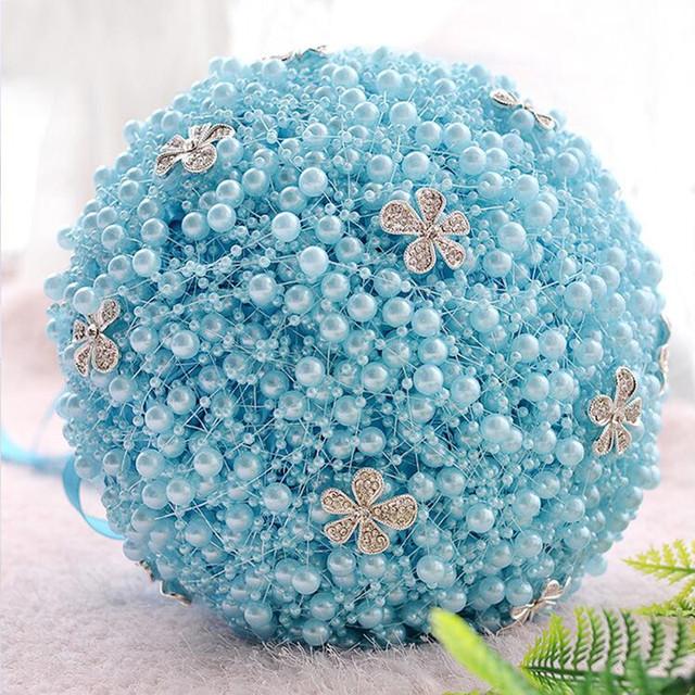 Online Shop Hot sale light blue pearl wedding bride bridesmaids ...