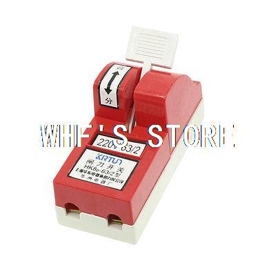 AC 220V 63A Single Pole 1P Circuit Control font b Knife b font Disconnect Switch Red