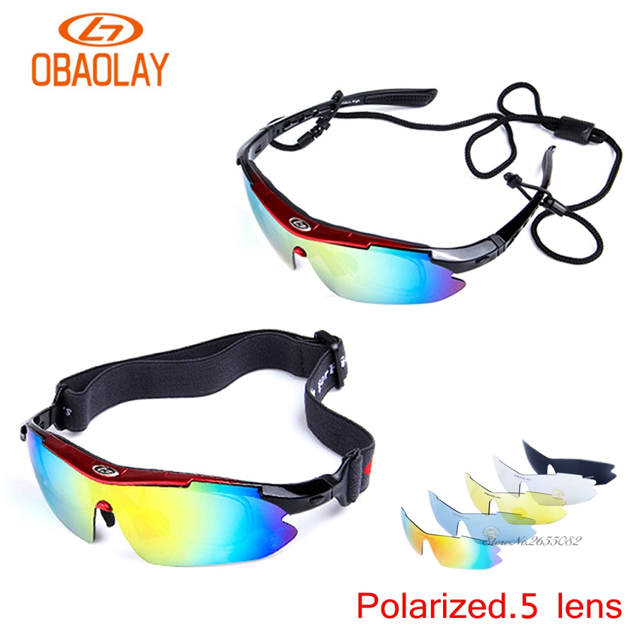 UV400 Motorcycle Cycling Women Men Sport Glasses Set Polarized Ski Goggles Oculos Eyewear Sunglasses for Fishing Bicycle 5Lens