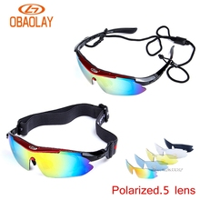 UV400 Motorcycle Cycling Women Men Sport Glasses Set Polarized Ski Gog