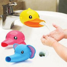 Cute Children Bathroom Water Extender Sink Faucet Chute Kids Kitchen Washing Hands Baby Care Bath Brushes