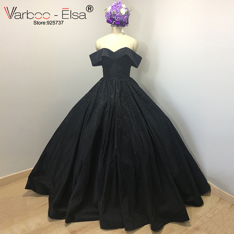 Aliexpress.com : Buy Elegant Black Ball Gown Sweetheart Neck off ...