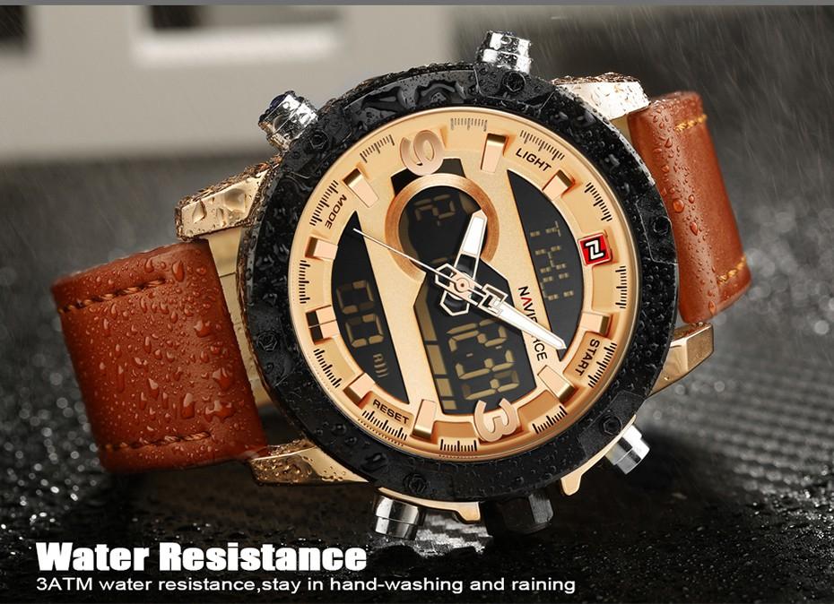 Top Luxury Brand NAVIFORCE Men Sport Watches Men's Quartz LED Analog Clock Man Military Waterproof Wrist Watch relogio masculino 4